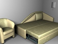 furniture sofa-bed 3d model