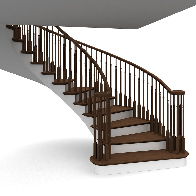 Wooden Staircases: 3d Model Wooden Staircases Step