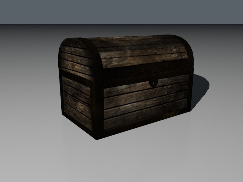 3d old treasure chest model