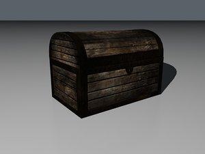 3d old treasure chest model