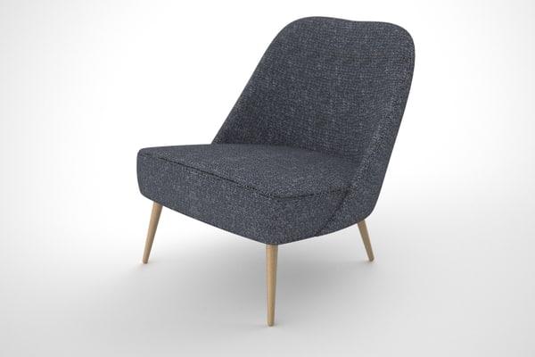 vintage chair 3d 3ds