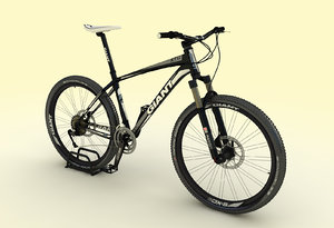 3d model of mountain bike giant xtc