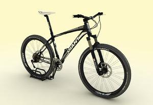 3d model of mountain bike giant xtc