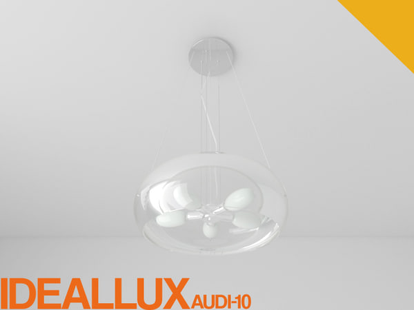 3d ideallux udi-10 hanging lamp model