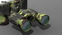 binocular camouflage 3d model