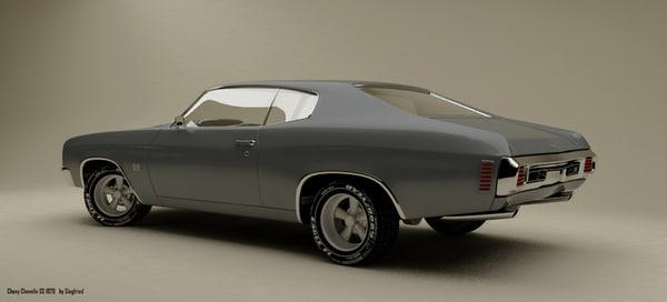 3d chevelle ss 1970