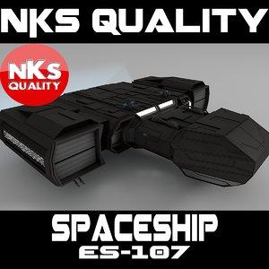 3d spacecraft es-107 model