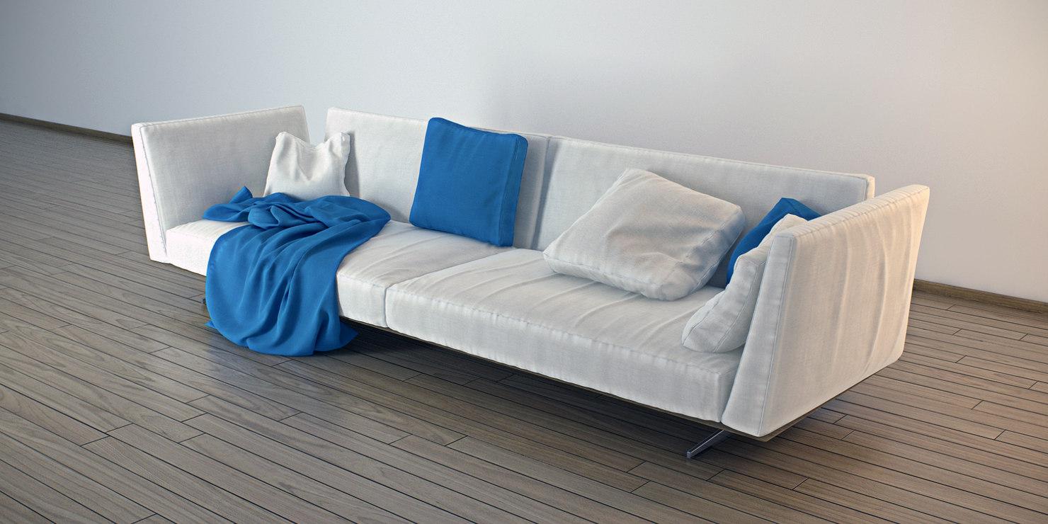 sofa designed antonio 3d 3ds