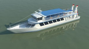 3d model river ferry