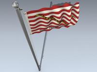 3d maritime flag model