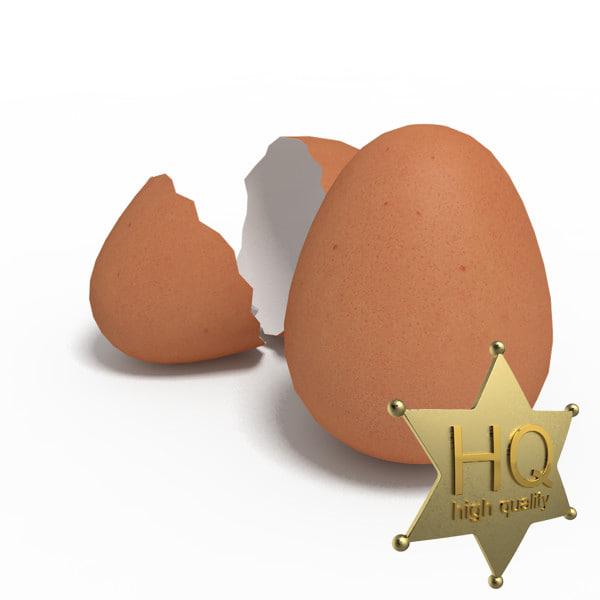 3d eggs chicken model