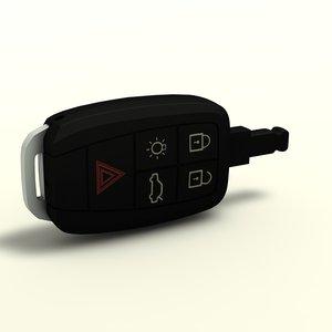 3d model car key fob