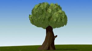 3d cartoon leave tree