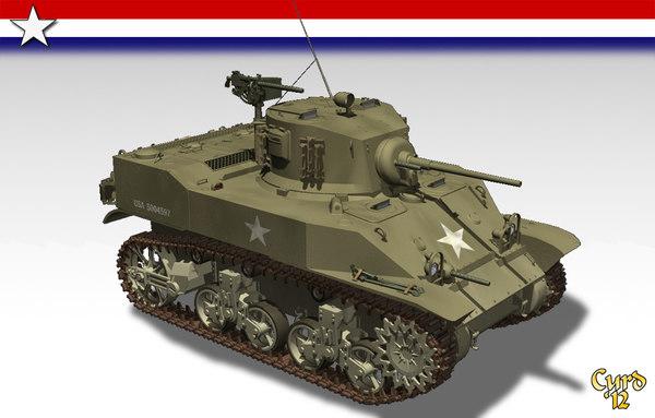 lightwave m5 light tank wwii