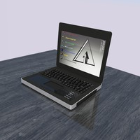 laptop keyboard 3d 3ds