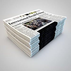 newspaper journal 3d model
