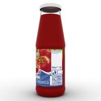 3d bottle tomato sauce model