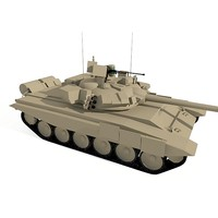T-90 low-poly Base mesh
