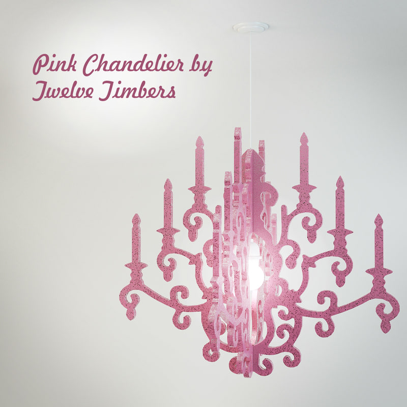 pink chandelier timbers 3ds