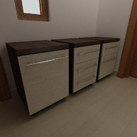 Mobile Pedestal Drawers 1-3