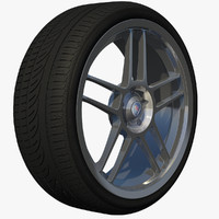 wheel sport rim 3d model