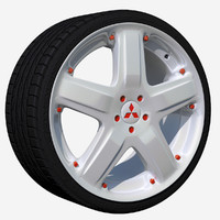 3dsmax wheel rim 5 spoked