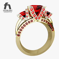golden ring 3d model
