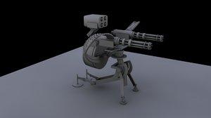 tf2 sentry gun 3d c4d