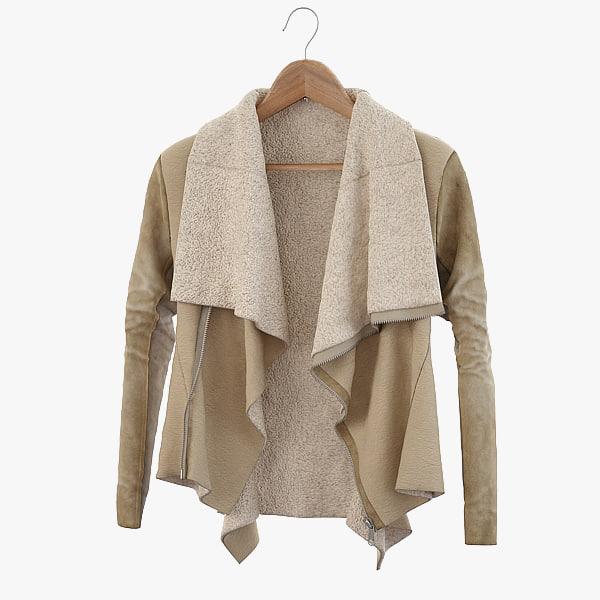 sheepskin coat 3d max