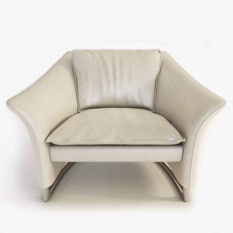 enora armchair 3d model