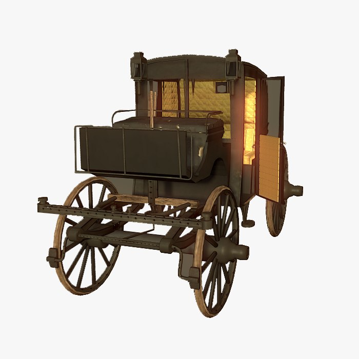 victorian brougham carriage 3d 3ds