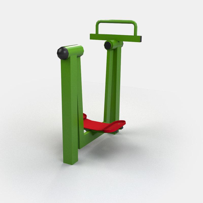 exercise pendulum 3d model