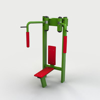 3d butterfly gym model