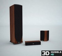 3d model speakers pack 1