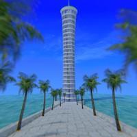 spiral tower obj