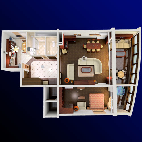 urban apartment 3d model