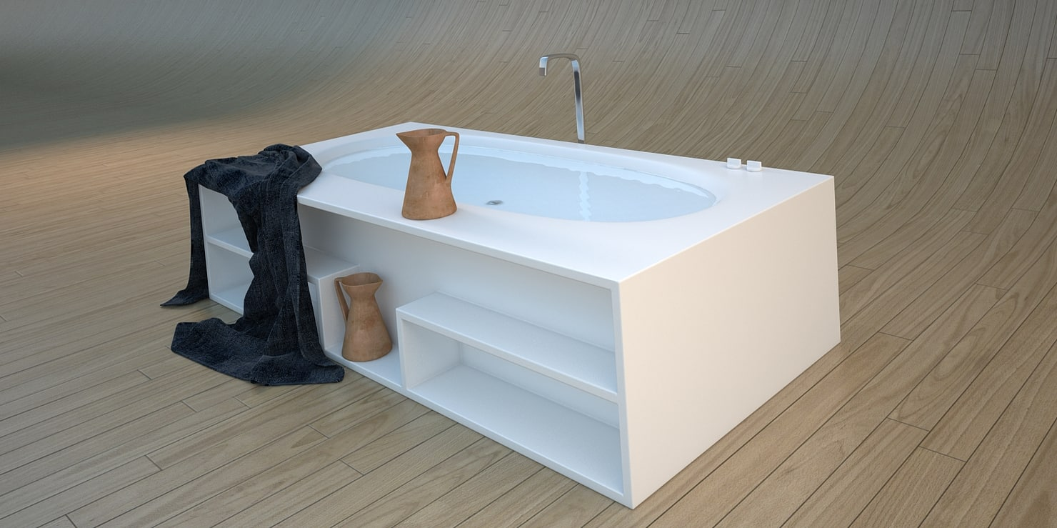 designer vasca misura 3d model