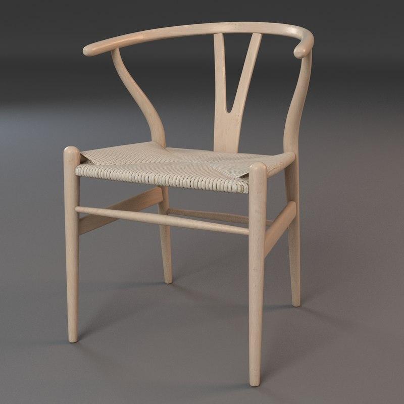 3d hans wishbone chair model