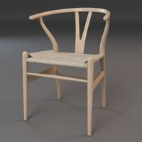 3d hans wishbone chair model