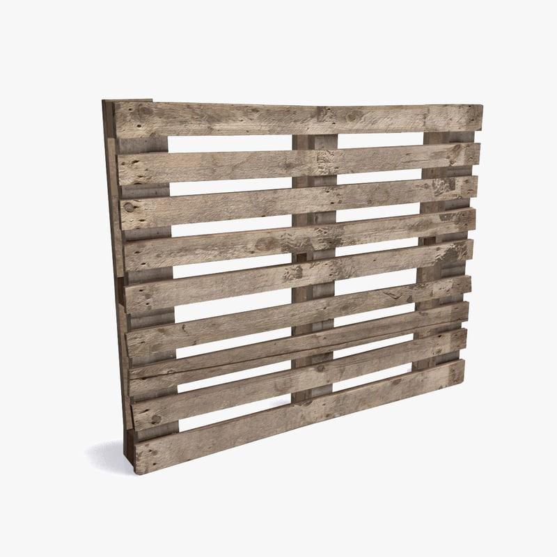 wooden pallet 3ds
