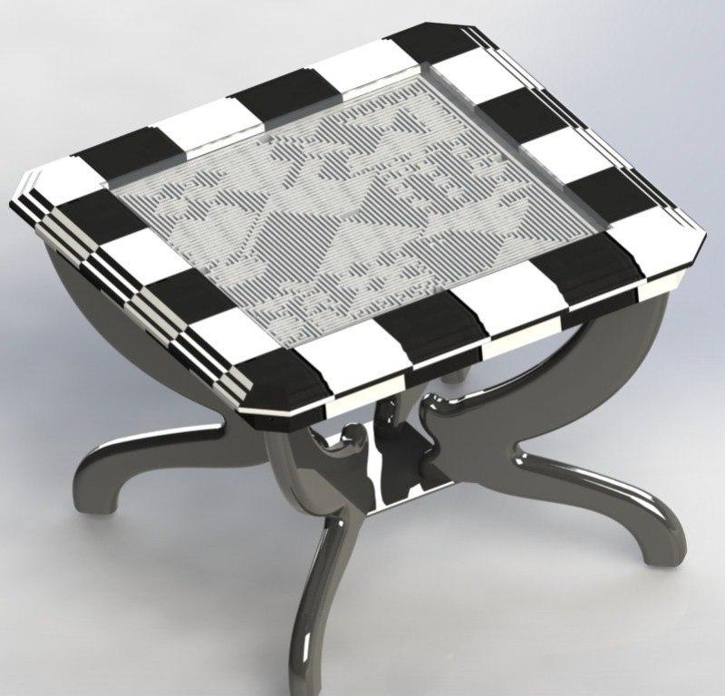 table labyrinth 2 3d dwg