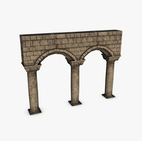 Stone columns with arches module