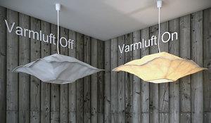 3d ikea varmluft lamp light