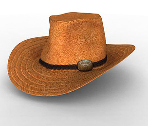 leather hat cowboys max