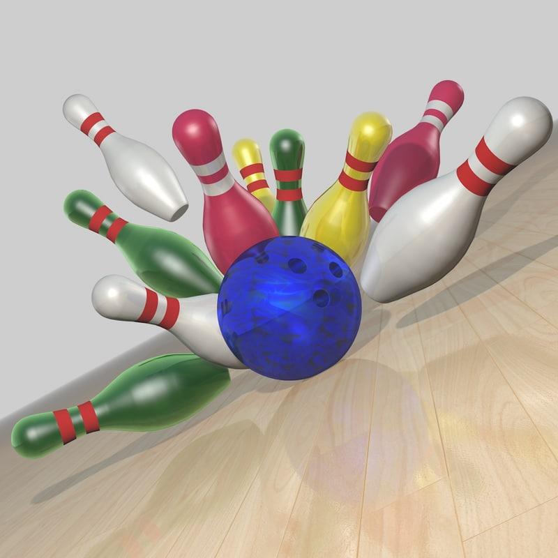 3d model of bowling set