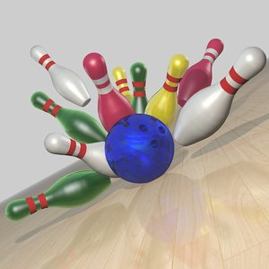 3d model of bowling set