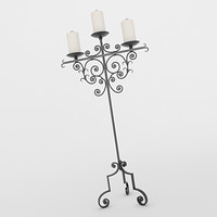 candle holder 3d lwo
