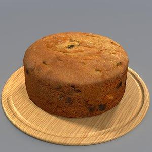 3d model fruit cake manor