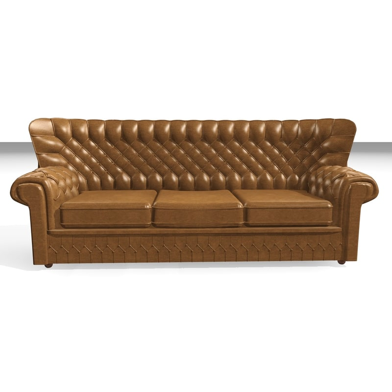 devon 3 seater leather chair 3d 3ds