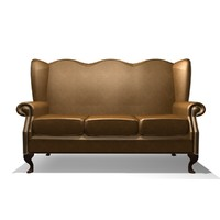 Classic 3 Seater Winged Chair